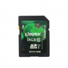 Genuine Kingston SDHC CLASS 10 SD Card with Write Protection Switch (16GB)
