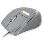 Rapoo V1 USB 800~2400DPI Optical Gaming Mouse - Grey + Black (120CM)