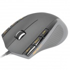 Rapoo V2 USB 400~3200DPI Optical Gaming Mouse - Grey(120CM)