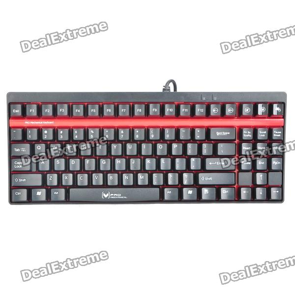 Rapoo V7 87-Key Gaming Mechanical Keyboard - Black + Red (160cm)