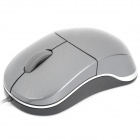 N6000 USB Wire 1000DPI Optical Mouse - Grey (110cm-Cable Length / 5V)
