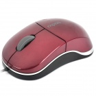 N6000 USB Wire 1000DPI Optical Mouse - Red (110cm-Cable Length / 5V)