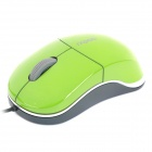 N6000 USB Wire 1000DPI Optical Mouse - Green (110cm-Cable Length / 5V)