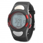 XY-005 Multifunction Water-Resistant Wireless Heart Rate Monitor Sports Watch - Black + Red
