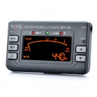 "MT-40 2.5"" LCD Metronome Tuner for Guitar / Bass / Violin - Black (2 x AAA)"