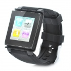 Wrist Watch Style Protective Silicone Case with Band for iPod Nano 6 (Black)