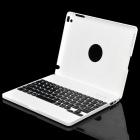Bluetooth V3.0 82-Key Keyboard Case for iPad 2 - White (3.0~5.0V / Standby Time-6 Month)