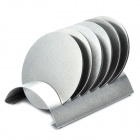 Stainless Steel Semicircle Stand Holder w/ Cup Mat - Silver (6 Pieces Cup Mat)