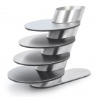 Stainless Steel Cup Mat Coasters with Holder