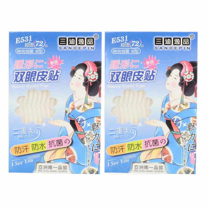 Transparent Double Eyelid Tape (60-Piece Pack)