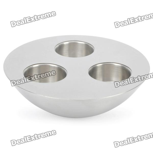 Stainless Steel 3-Hole Candle Holder