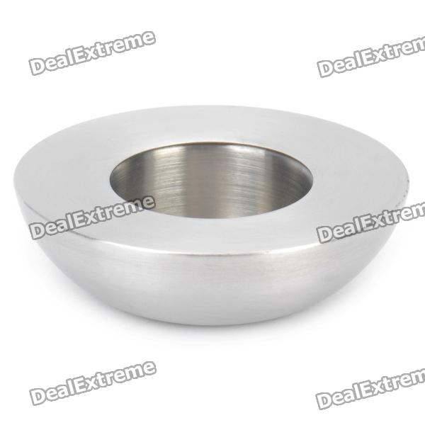 Single Round Stainless Steel Candle Holder / Stand - Silver
