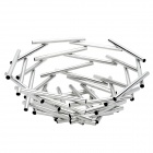Modern Stainless Steel Tubes Fruit Basket - Silver