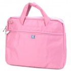 "Fashion Protective Nylon Dot Pattern Handbag w/ Shoulder Strap for 15.4"" Laptop Notebook - Pink"