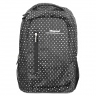 "Protective White Dot Pattern Casual Travel Backpack Bag for 14.5""-15.6"" Laptop Notebook - Black"