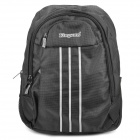 "Protective Stripe Pattern Casual Travel Backpack Bag for 15.6"" Laptop Notebook - Black"