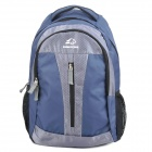 "Protective Casual Travel Backpack Bag for 15.6"" Laptop Notebook - Deep Blue + Grey"