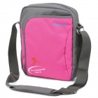 "Fashion One-Shoulder Protective Bag with Strap for 10.2"" Laptop Notebook - Grey + Deep Pink"