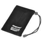 Protective Soft Pouch with String for Laptop Power Adapter / Mouse / MP4 / MP5 + More - Black