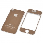 Decorative Protective Front + Back Cover Skin Sticker for Apple iPhone - Coffee