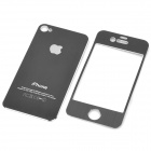 Decorative Protective Front + Back Cover Skin Sticker for Apple iPhone - Black