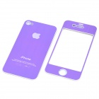 Decorative Protective Front + Back Cover Skin Sticker for Apple iPhone - Purple