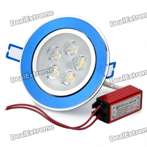 5W 3500K 320-Lumen 5-LED Warm White Light Ceiling Down Lamp w/ Driver (AC 100~245V) 12w 3500k 1050 lumen 12 led warm white light ceiling down lamp ac 100 245v