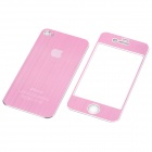 Decorative Protective Front + Back Cover Skin Sticker for Apple iPhone 4 - Pink