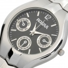 Men's Stylish Waterproof Stainless Steel Quartz Watch - Silver Grey (1 x SR626SW)