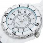 Men's Stylish Waterproof Stainless Steel Quartz Watch - White (1 x 377)