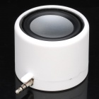 Mini Rechargeable 3W Speaker for iPhone - White (3.5mm-Plug)