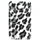 Plush Leopard Skin Pattern Protective Plastic Back Case for Samsung I9220 (Black + White + Grey)