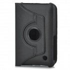 Protective PC Holder PU Leather Case for Samsung P6200 - Black