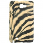 Plush Tiger Skin Pattern Protective Plastic Back Case for Samsung I9220 (Black + Yellow)