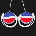 PEPSI Logo Pattern Ear-Hook Earphone - White (3.5mm-Plug / 90cm-Cable)