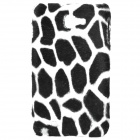 Plush Leopard Skin Pattern Protective Plastic Back Case for Samsung I9220 (Black + White)