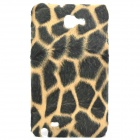 Plush Leopard Skin Pattern Protective Plastic Back Case for Samsung I9220 (Black + Coffee)