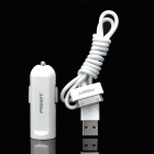 Pisen Mini Car Charger for iPad / iPod / iPhone (DC 12~24V / 70cm)