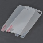 Protective Front + Back Clear Screen Protector Guard Film Set + Cleaning Cloth for Iphone 4 / 4S