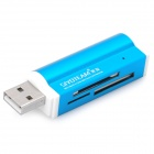USB 2.0, SD / MS / TF / M2 Card Reader - Blue