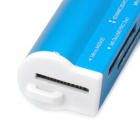 USB 2.0 SD / MS / TF / M2 Card Reader - Blue