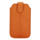 Protective PU Leather Case Pouch for Apple iPhone 4 - Brown