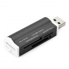 USB 2.0 SD / MS / TF / M2 Card Reader - Black