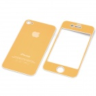 Decorative Protective Front + Back Cover Skin Sticker for Apple iPhone - Golden