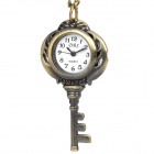 Antiquing Cartoon Key Style Pocket Watch with Chains - Bronze (1 x 377S)