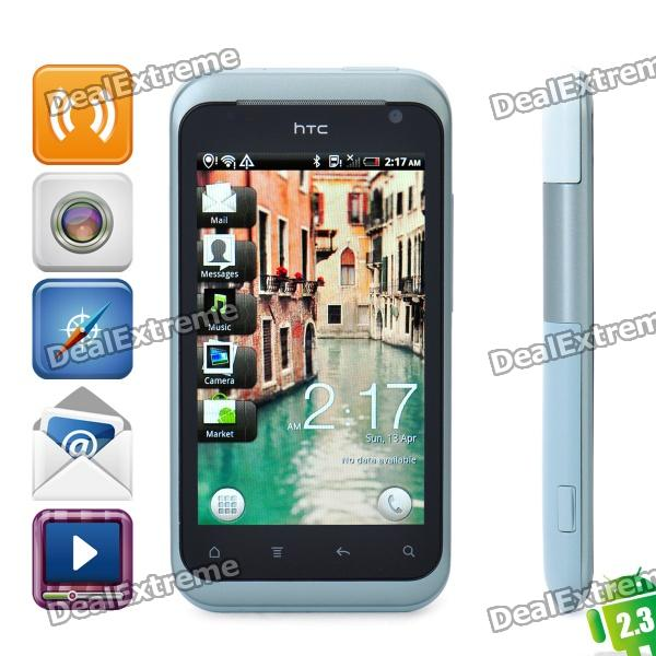 HTC Rhyme Android 2.3 WCDMA Smartphone w/ 3.7 Capacitive, Wi-Fi, GPS and Charging Dock - Clearwater nokia n8 symbian^3 wcdma smartphone w 3 5 capacitive gps 12mp camera and wi fi grey 16gb