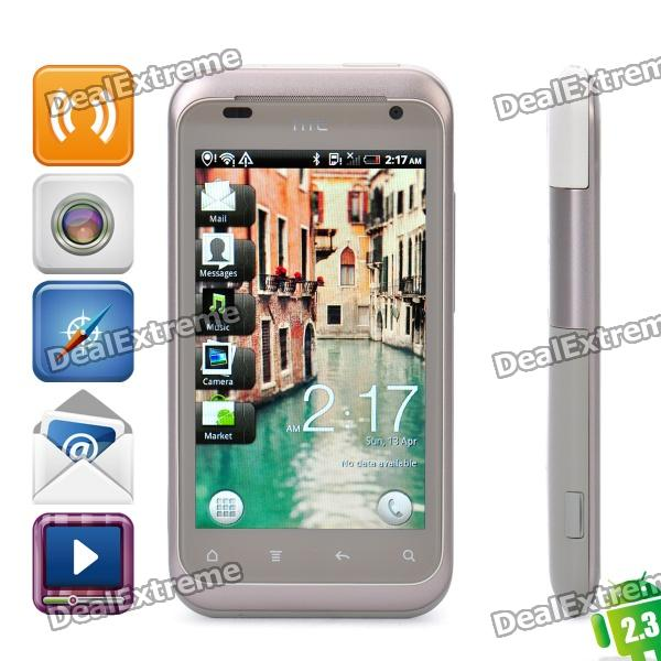 "HTC Rhyme Android 2.3 WCDMA Smartphone w / 3,7 ""capacitif, Wi-Fi, GPS et quai de chargement - brun"