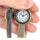 Antiquing Cartoon Cross Style Pocket Watch with Chains - Bronze (1 x 377S)