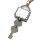Antiquing Cartoon Love Lock Style Pocket Watch with Chains - Bronze (1 x 377S)