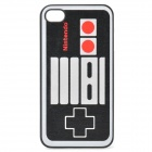 Nintendo Game Controller Pattern Protective PC Back Case for iPhone 4 / 4S - Black + Grey